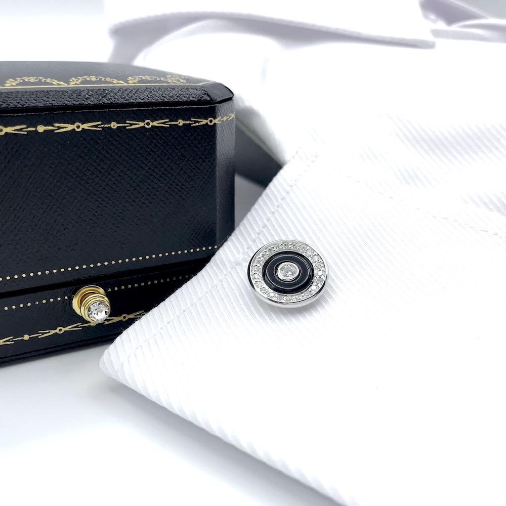 ELEGANT 925 Sterling Silver & Onyx Cuffl