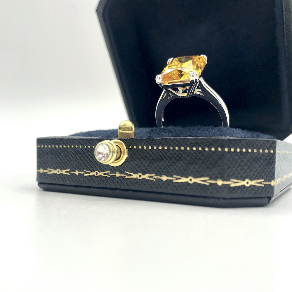 Citrine Cocktail Ring Size 7