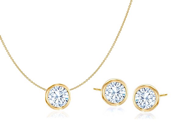 Simple & Chic Set in Yellow Gold