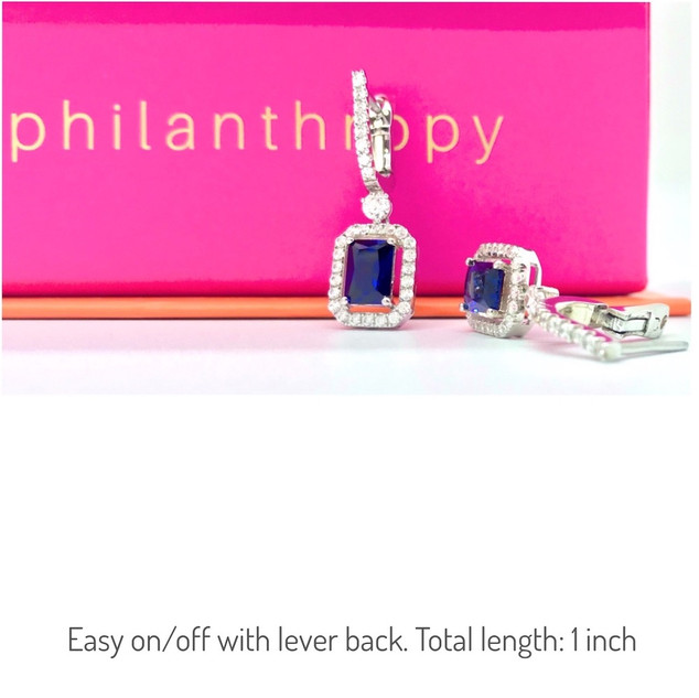 ROYAL GLAMOUR EARRINGS/ Cost to nonprofit: $120/ Value: $500
