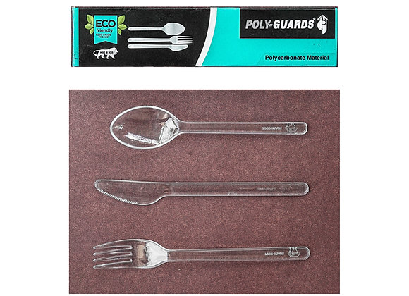 Spoon, Knife and Fork set (Polycarbonate)