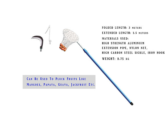 Thotti with hook sickle & net extendable 3.5M [Only Kerala Delivery]