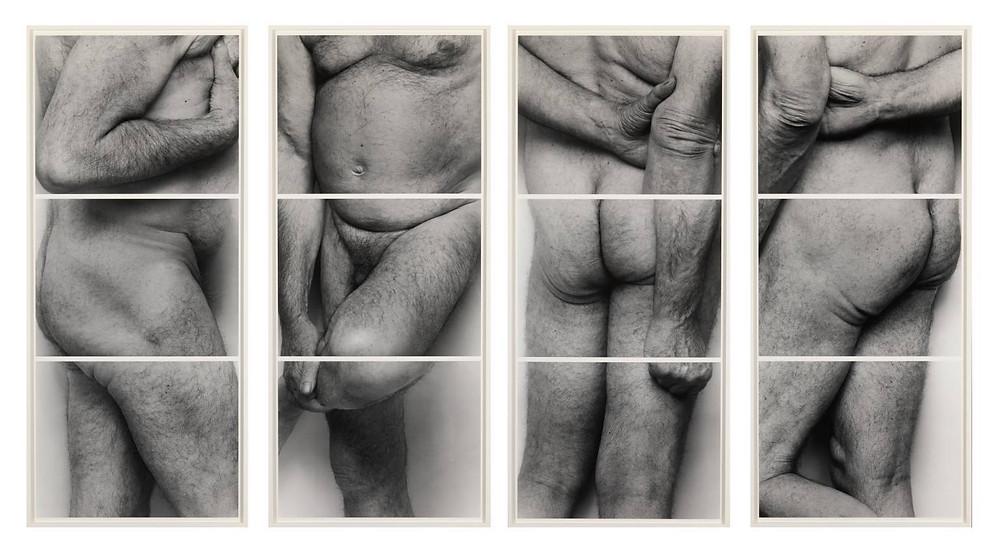 Self-Portrait (Frieze No. 2, Four Panels) 1994 by John Coplans 1920-2003