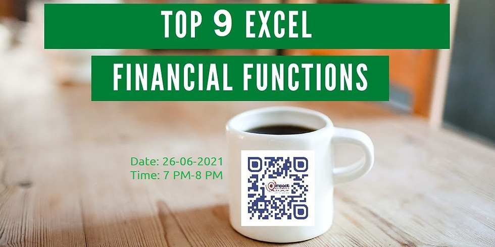 Explore the Top 9 Financial Function in Excel in 90 minutes