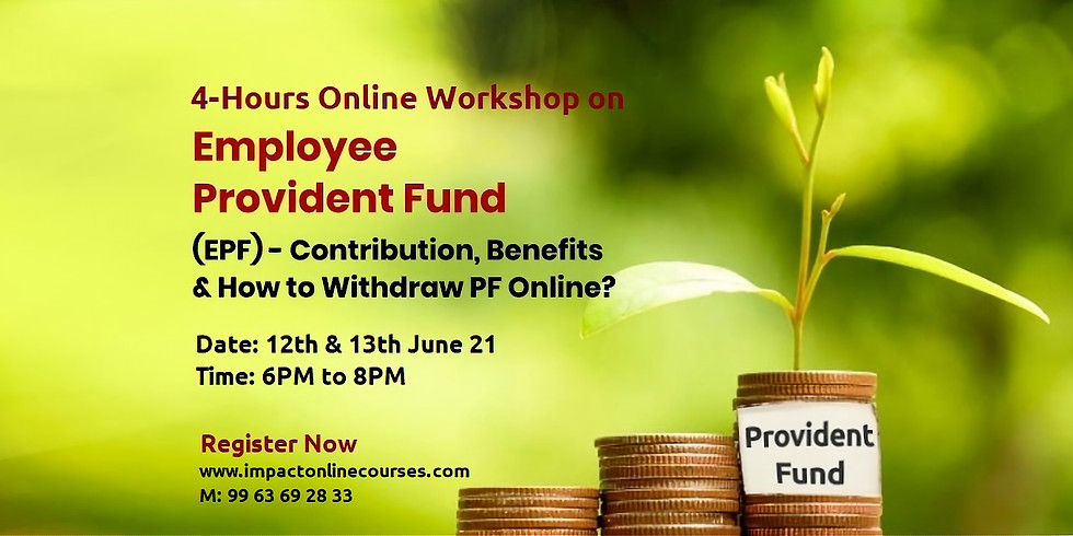 Online Workshop on Provident Fund
