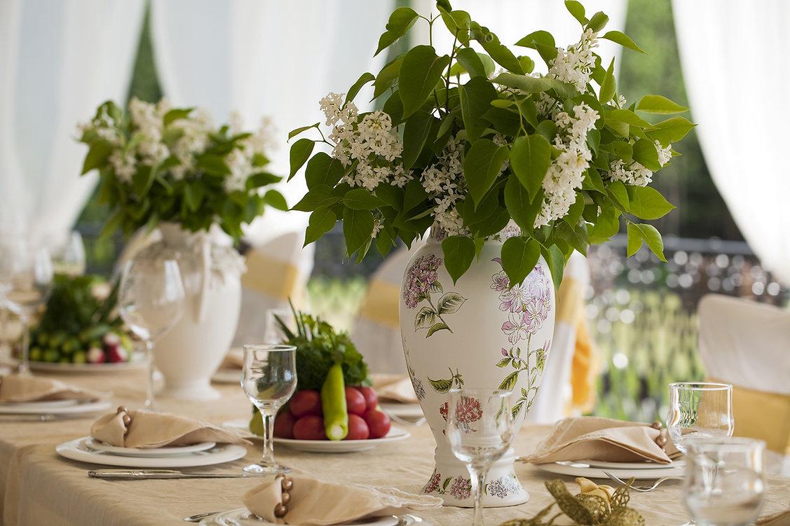 Decoración de la boda