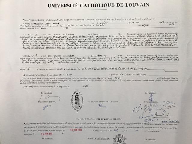 Denis Penoy Diplome de Philosophie, UCL, Belgium_edited