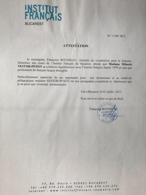 Mihaela_Nestor_Penoy_Recommandation_Institut_Français_de_Bucarest