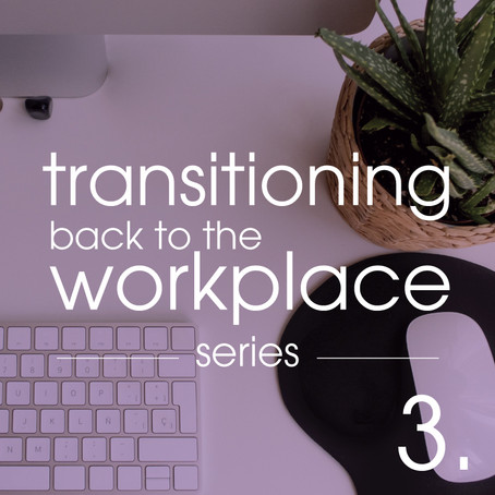 Transitioning Back to the Workplace Part 3 of 4