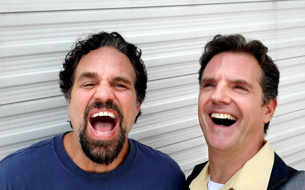 Mark Ruffalo and Michael Simon Hall on the set of I Know This Much Is True.