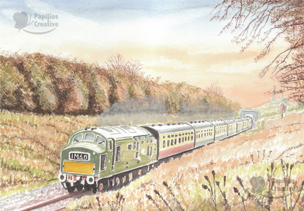 English Electric Class 37 D6948 On The GWR