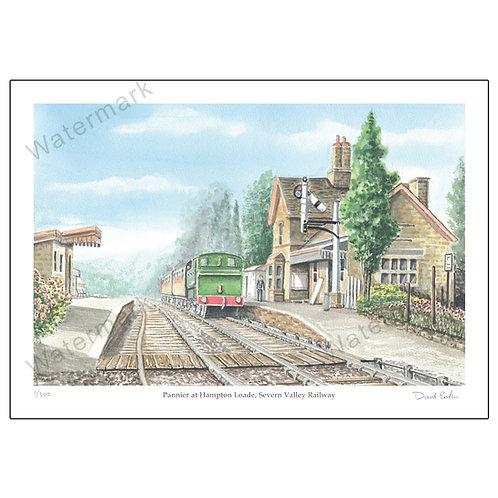 Pannier at Hampton Loade, Severn Valley Railway, Print A4 or A