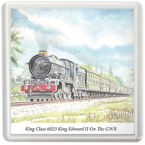 King Class 6023 King Edward II On The GWR - Coaster