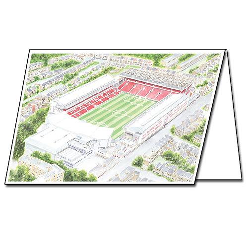 Arsenal Stadium, Highbury - Greetings Card Landscape, A5/A6