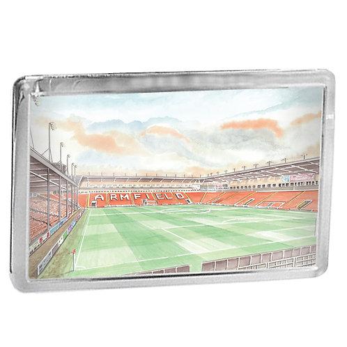 Blackpool Football Club - Inside Bloomfield Road - Fridge Magnet