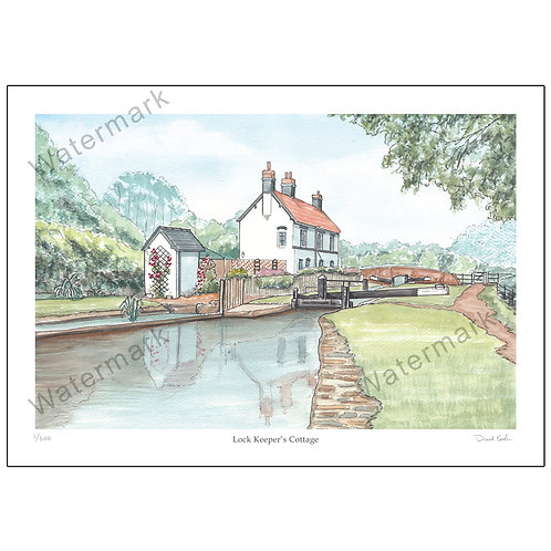 Lock Keeper's Cottage, Print A4 or A3