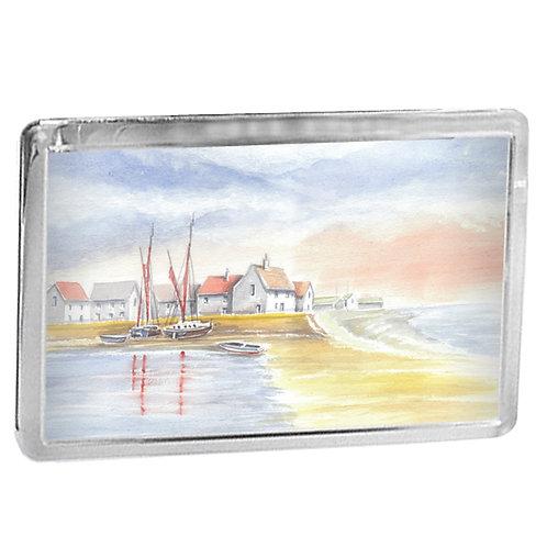 Norfolk Fishing Village - Fridge Magnet