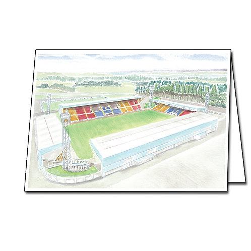 St Johnstone - McDiarmid Park - Greetings Card Landscape, A5/A6
