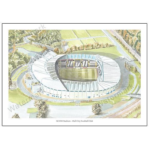 Hull City Football Club - KCOM Stadium, Print A4 or A3
