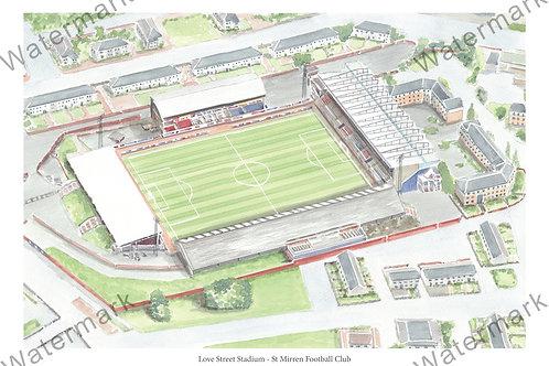 St Mirren Football Club - Love Street, Print A4 or A3