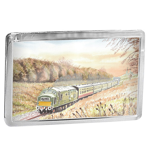 English Electric Class 37 D6948 On The GWR - Fridge Magnet