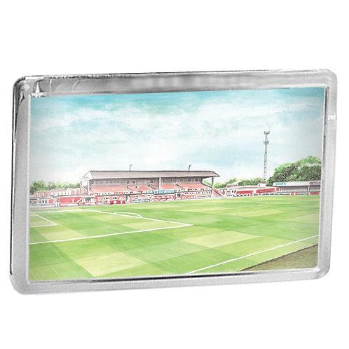 Cheltenham Town - Whaddon Road Main Stand - Fridge Magnet