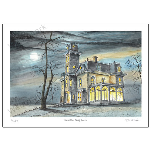 The Addams Family Mansion, Print A4 or A3