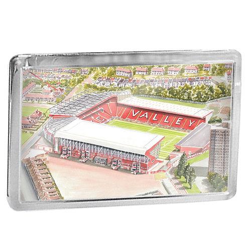 Charlton Athletic Football Club - The Valley - Fridge Magnet