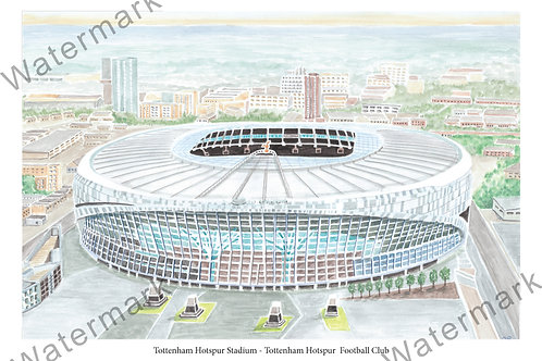 Tottenham Hotspur Stadium, Limited Edition Print A4 / A3