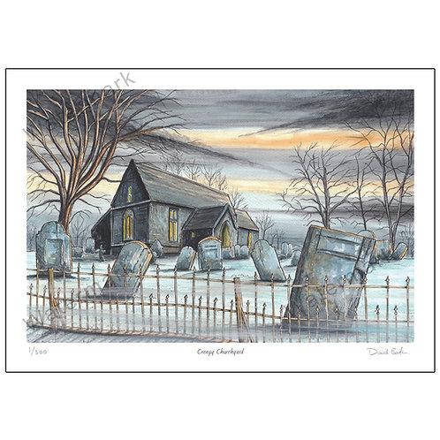 Creepy Churchyard, Print A4 or A3