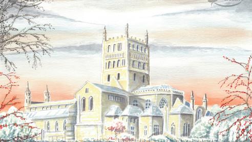Tewkesbury Abbey In Winter