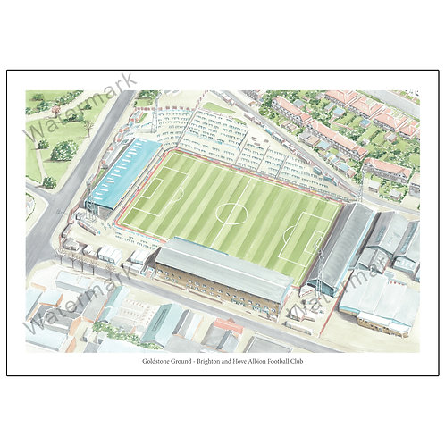 Brighton and Hove Albion - Goldstone Ground, Limited Edition Print A4/A3