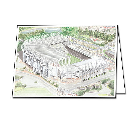 Newcastle United - St James Park - Greetings Card Landscape, A5/A6