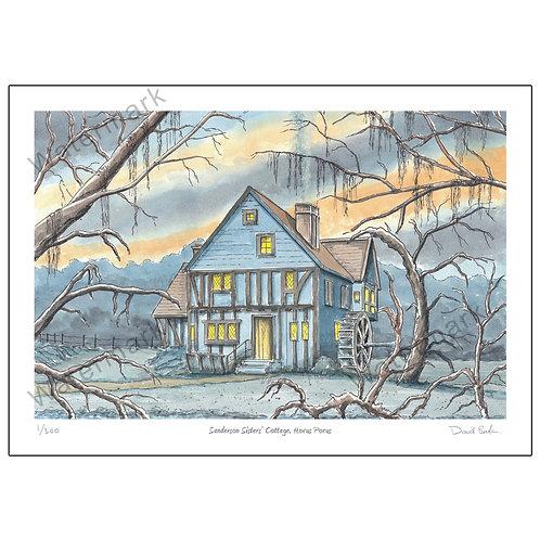 Sanderson Sisters' Cottage, Hocus Pocus, Print A4 or A3