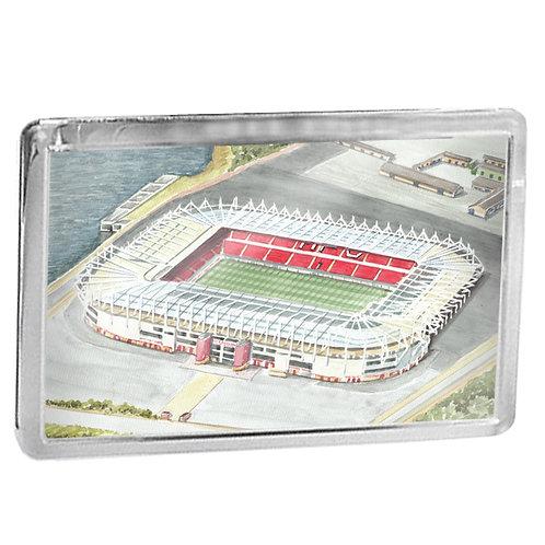 Middlesbrough Football Club - The Riverside Stadium - Fridge Magnet