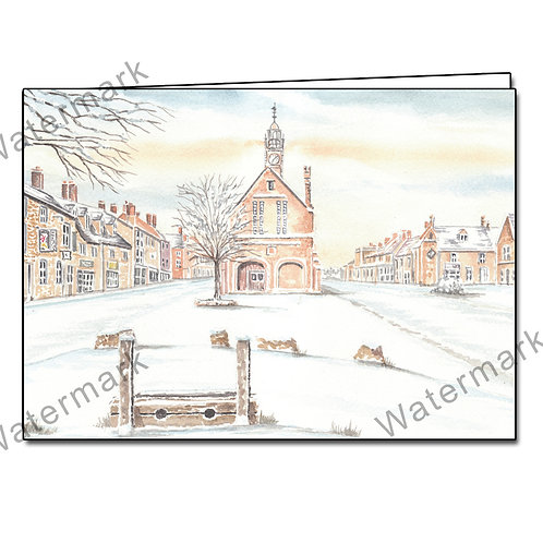 Moreton-in-Marsh In The Snow - 8 Christmas/Greetings Cards A6