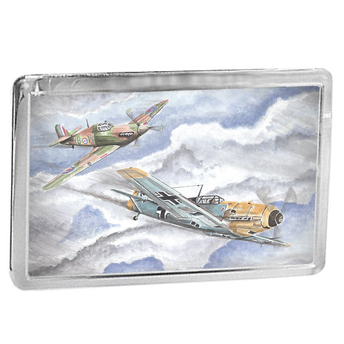 Hurricane and Messerschmitt Bf 109 Dogfight - Fridge