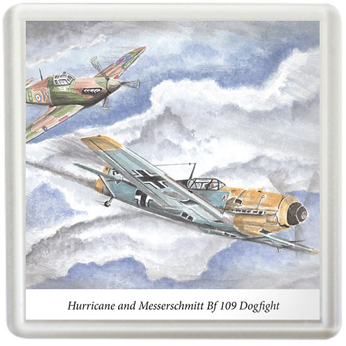 Hurricane and Messerschmitt Bf 109 Dogfight - Coaster