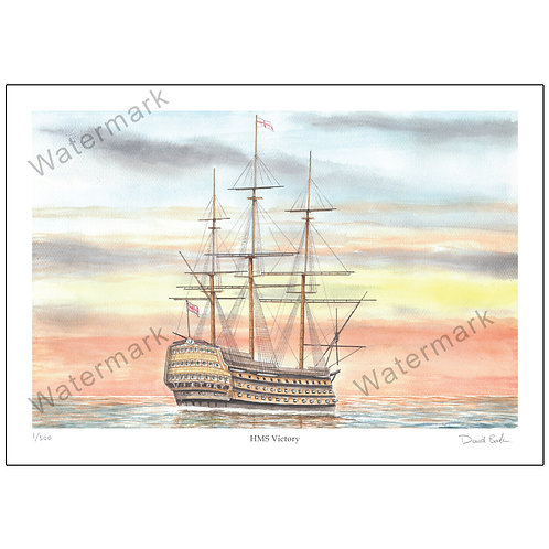 HMS Victory, Print A4 or A3