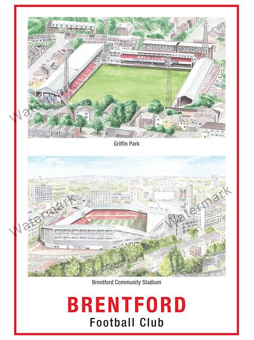 Brentford FC - Stadiums, Print A4 or A3