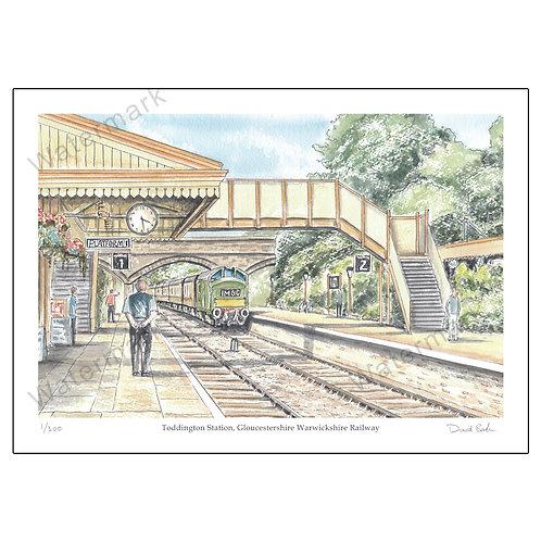 Toddington Station - Gloucestershire Warwickshire Railway, Print A4 or A3