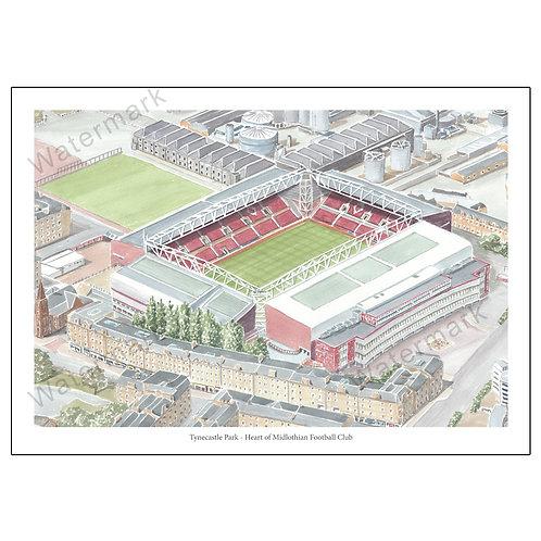 Heart of Midlothian Football Club - Tynecastle Park, Print A4 / A3