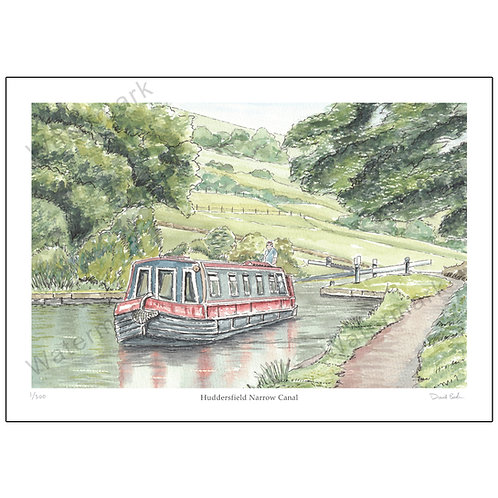 Huddersfield Narrow Canal, Limited Edition Print A4 or A3