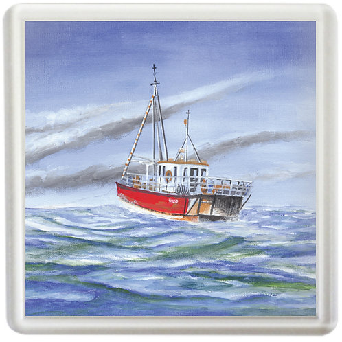 Fishing Boat At Sea - Coaster