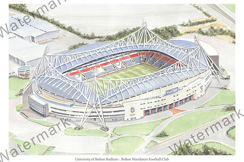 Bolton Wanderers - University of Bolton Stadium, Print A4 or A3