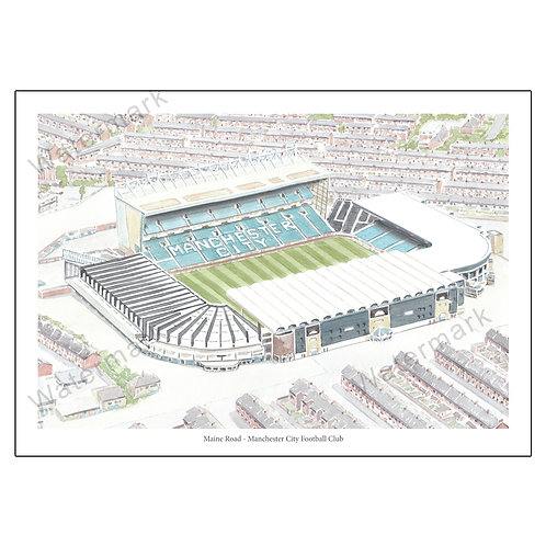Manchester City - Maine Road, Limited Edition Print A4 / A3