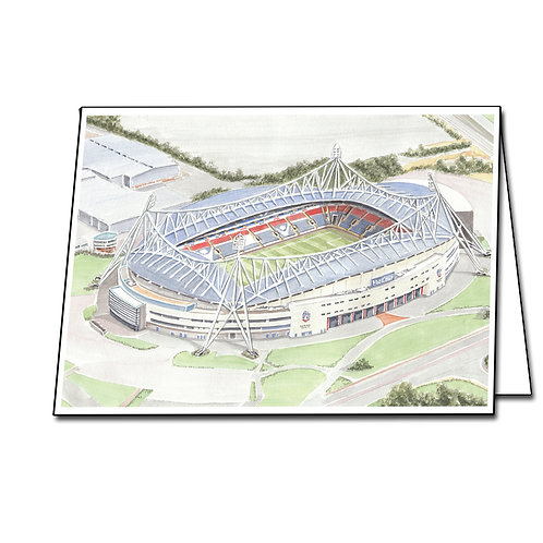 Bolton Wanderers, The University Of Bolton Stadium - Greetings Card A5/A6