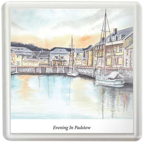 Evening In Padstow - Coaster