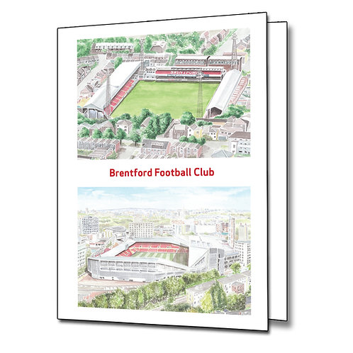 Brentford Both Grounds - Greetings Card Portrait, A5/A6