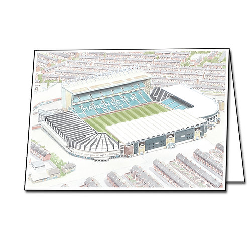 Manchester City - Maine Road - Greetings Card Landscape, A5/A6